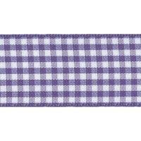 Berisfords 10mm Wide Gingham Ribbon - Liberty (Purple)