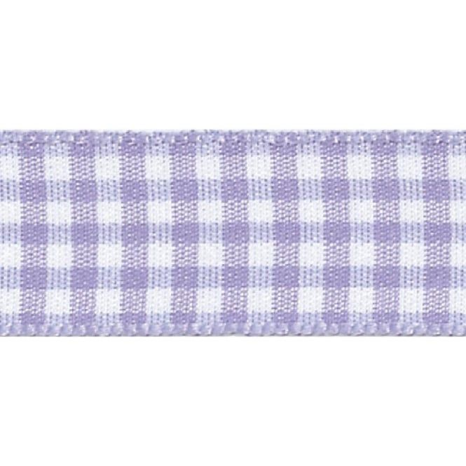 Berisfords 10mm Wide Gingham Ribbon - Orchid (Lilac)