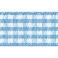 Berisfords 10mm Wide Gingham Ribbon - Sky Blue