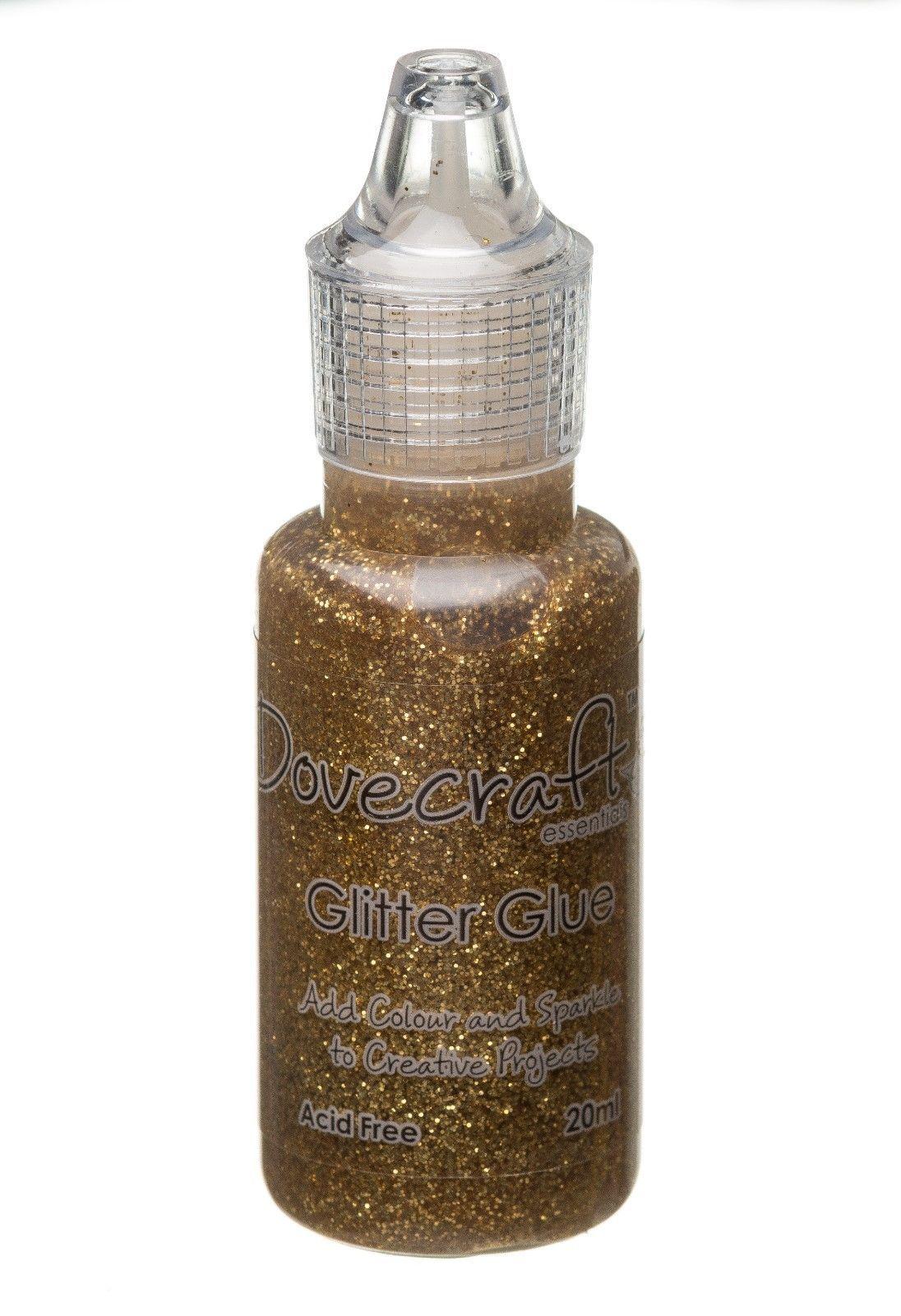 Dovecraft Glitter Glue 20ml - Gold