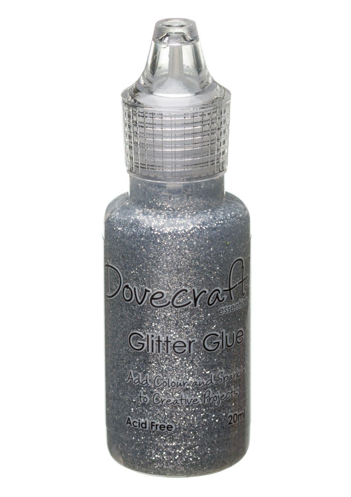 Dovecraft Glitter Glue 20ml - Silver