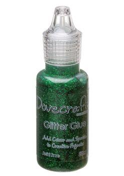 Dovecraft Glitter Glue 20ml - Forest Green