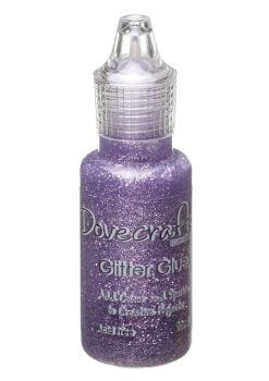 Dovecraft Glitter Glue 20ml - Lavender
