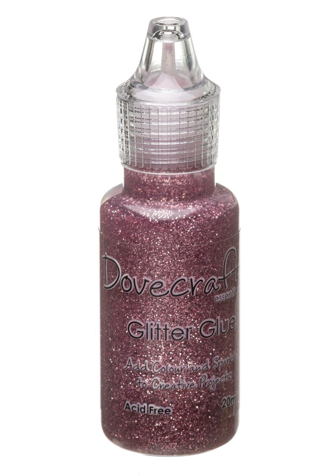 Dovecraft Glitter Glue 20ml - Rose Pink
