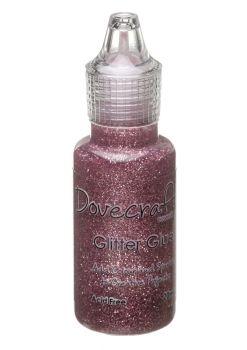 Dovecraft Glitter Glue 20ml - Rose Pink