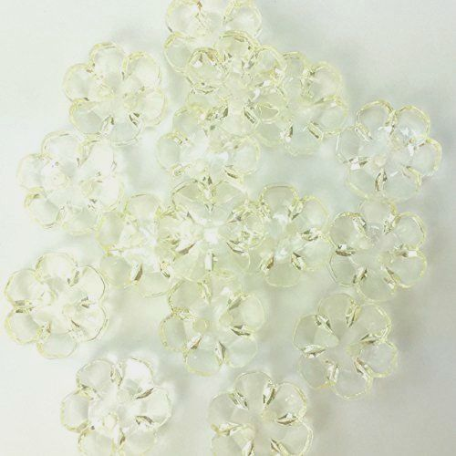 Clear Flower Buttons Clear - 13mm
