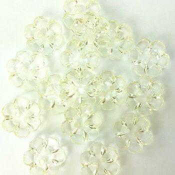 Clear Flower Buttons - 15mm