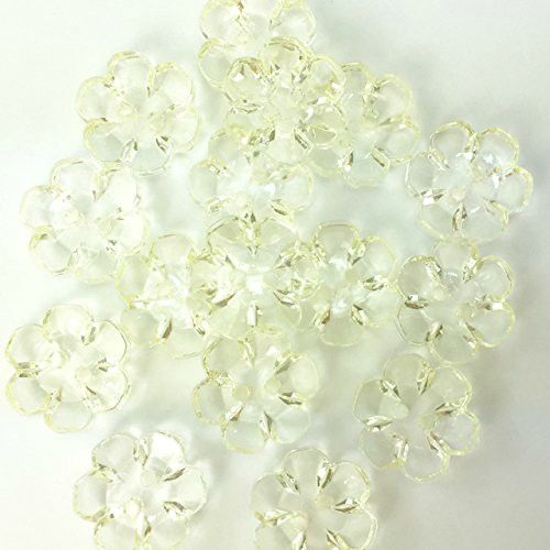 Clear Flower Buttons - 15mm
