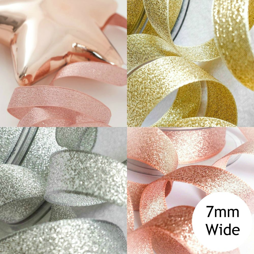 Sparkly Lame Ribbon - 7mm Wide