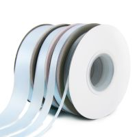 5 Metres Quality Double Satin Ribbon 15mm Wide - Light Blue