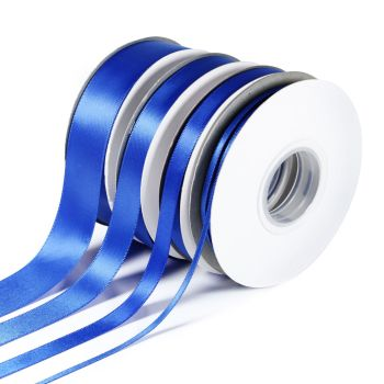 5 Metres Quality Double Satin Ribbon 15mm Wide - Royal Blue