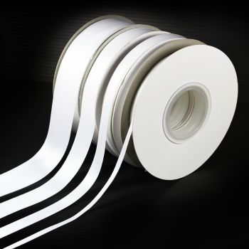 5 Metres Quality Double Satin Ribbon 15mm Wide - White