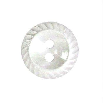 Round Mill Edge Buttons Size 18 - White