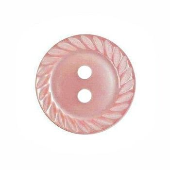 Round Mill Edge Buttons Size 18 - Light Pink