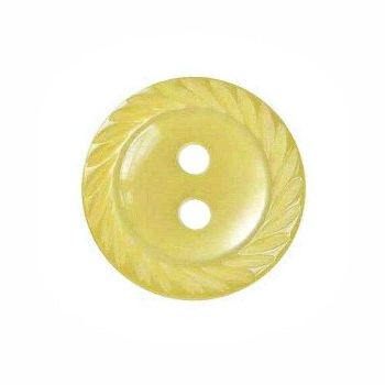 Round Mill Edge Buttons Size 18 - Yellow