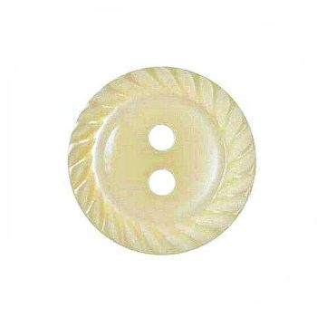 Round Mill Edge Buttons Size 18 - Cream