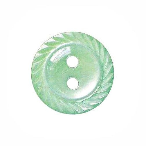 Round Mill Edge Buttons Size 18 - Mint Green