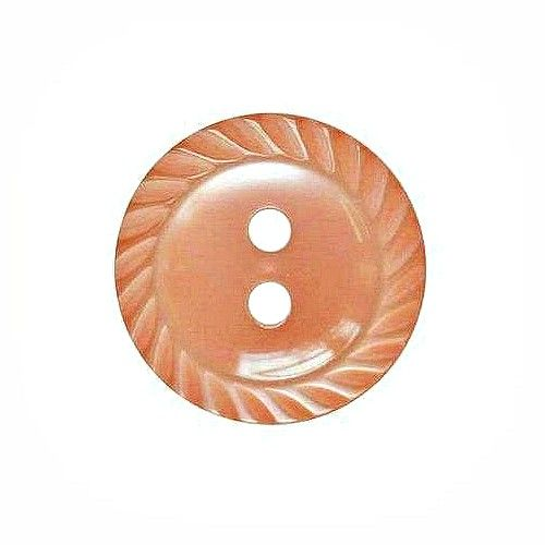 Round Mill Edge Buttons Size 18 - Peach