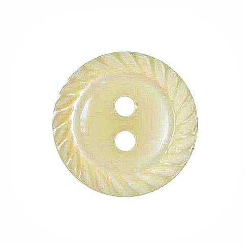 Round Mill Edge Buttons Size 26 - Cream