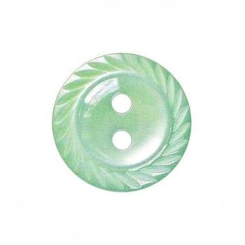 Round Mill Edge Buttons Size 26 - Mint Green