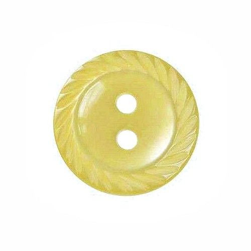 Round Mill Edge Buttons Size 26 - Yellow