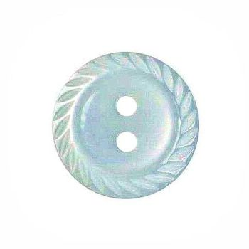 Round Mill Edge Buttons Size 26 - Light Blue