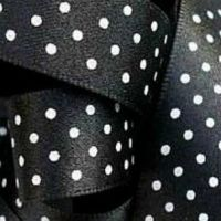 Berisfords Micro Polka Dot Spotty Ribbon 15mm - Black