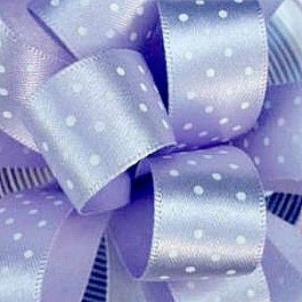 Berisfords Micro Polka Dot Spotty Ribbon 15mm - Orchid (Lilac)