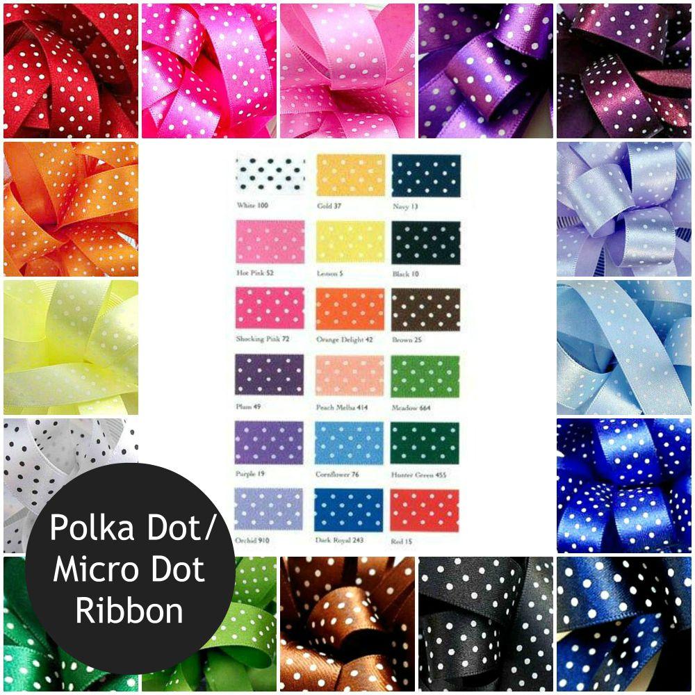 Polka Dot/Micro Dot Ribbon