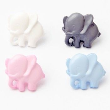 Elephant Buttons - 14mm
