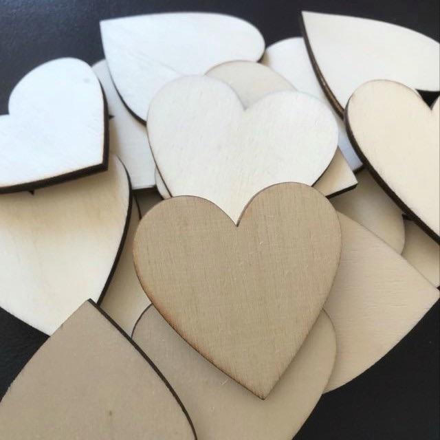 Wood Heart Shapes 5cm - Laser Cut