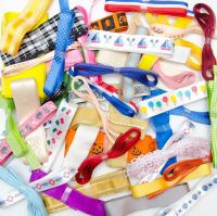 10 Metre Bundle of Assorted Patterned Ribbons