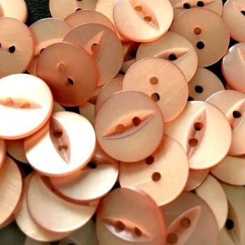 Round Fish Eye Buttons Size 26 - Rose Gold