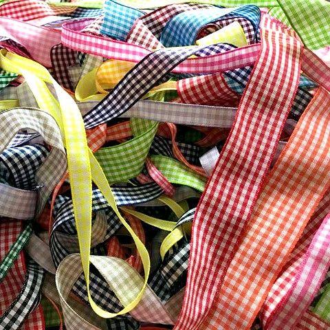 Berisfords Gingham Ribbon 5 Metre Assorted Pack