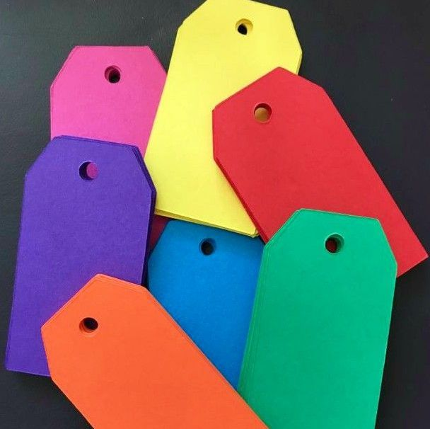 50 Medium Bright Colour Gift Tags