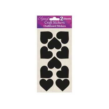 Eleganza Chalkboard Self Adhesive Stickers Labels - Small Hearts