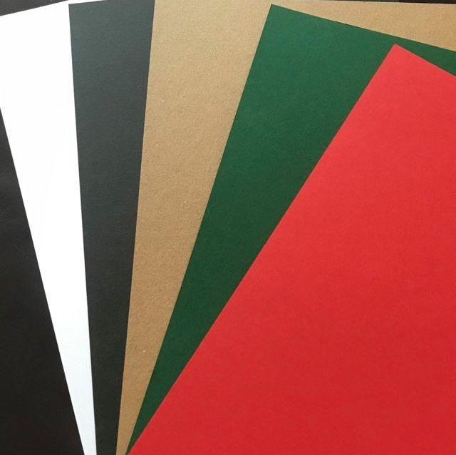 A4 Card in Assorted Christmas Colours