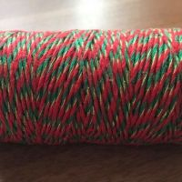 2mm Wide Bakers Twine - Red, Green & Gold