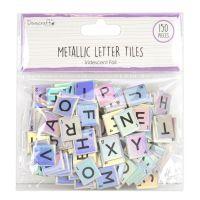 150 Metallic Scrabble Letter Tiles - Iridescent