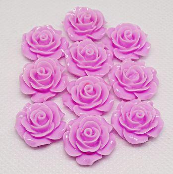Resin Roses Flat Back Cabochons - 14mm & 20mm Dusky Pink
