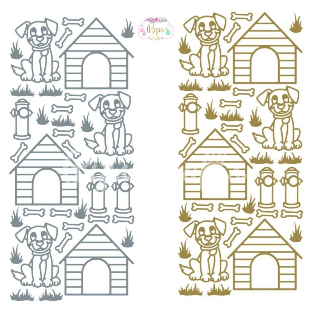 Dogs, Animals Peel Off Sticker Sheet