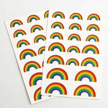 Multi Colour Rainbows Self Adhesive Stickers