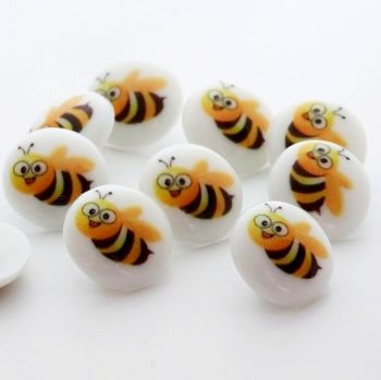 New Cute Bumble Bee Buttons - 15mm