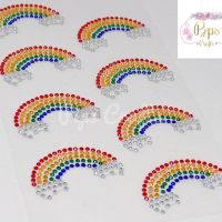 Diamante Crystal Gems Rainbow Stickers