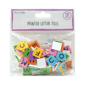 150 Scrabble Letter Tiles - Assorted Brights