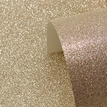 A4 Champagne Glitter Card - Low Shed 220GSM