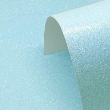 A4 Iridescent Light Blue Glitter Card - Low Shed 220GSM