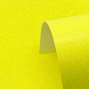 A4 Neon Yellow Glitter Card - Low Shed 220GSM