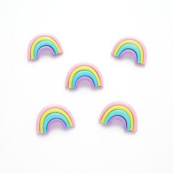 Multi Colour 25mm Pastel Rainbow Buttons