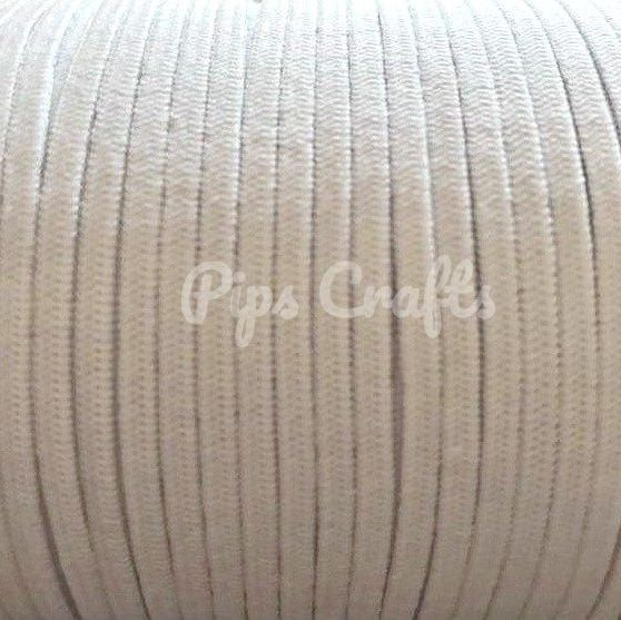 White Soft Elastic - 3mm Wide